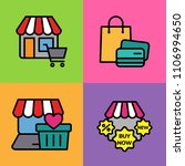 set of shop icons. vector... | Shutterstock .eps vector #1106994650