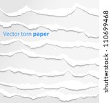 collection of white torn paper. ... | Shutterstock . vector #110699468