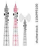 signal telecommunication signal ...   Shutterstock .eps vector #1106995100