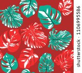 seamless tropical pattern with... | Shutterstock .eps vector #1106995586