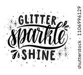 glitter sparkle shine... | Shutterstock .eps vector #1106996129