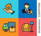set of real estate icons.... | Shutterstock .eps vector #1106999588