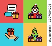 set of christmas icons. vector... | Shutterstock .eps vector #1107004208