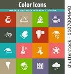 winter vector icons for user... | Shutterstock .eps vector #1107004640