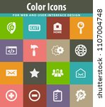 web tools vector icons for user ... | Shutterstock .eps vector #1107004748