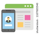 mobile and web user experience ... | Shutterstock .eps vector #1107005540