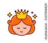 cute funny smiling girl... | Shutterstock . vector #1107006824