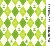 seamless golf pattern with... | Shutterstock .eps vector #1107006836