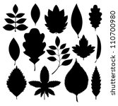 silhouettes of leaves. vector... | Shutterstock .eps vector #110700980