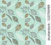 seamless pattern of leaves....   Shutterstock .eps vector #110700989