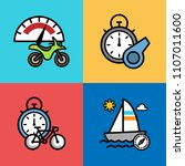 set of extreme sports icons.... | Shutterstock .eps vector #1107011600
