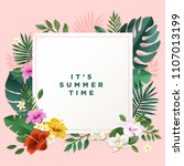 hello summer vector... | Shutterstock .eps vector #1107013199