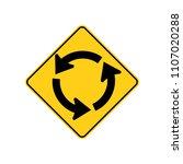 usa traffic road signs.... | Shutterstock .eps vector #1107020288