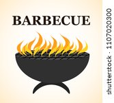 delicious barbecue grill design ... | Shutterstock .eps vector #1107020300