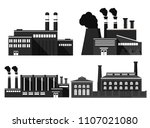 industrial factory icon.chimney ... | Shutterstock .eps vector #1107021080
