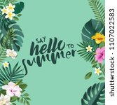 hello summer vector... | Shutterstock .eps vector #1107022583