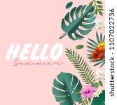 hello summer vector... | Shutterstock .eps vector #1107022736