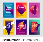 minimalist abstract posters set ... | Shutterstock .eps vector #1107028343