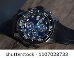 diver wristwatch with depth...   Shutterstock . vector #1107028733