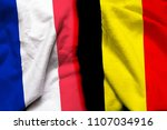france and belgium flag on... | Shutterstock . vector #1107034916