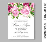 wedding invitation vector...   Shutterstock .eps vector #1107036140