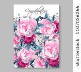 wedding invitation vector... | Shutterstock .eps vector #1107036266