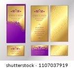 luxury wedding invitation cards ... | Shutterstock .eps vector #1107037919