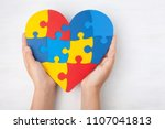 world autism awareness day ... | Shutterstock . vector #1107041813