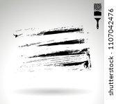 black brush stroke and texture. ... | Shutterstock .eps vector #1107042476