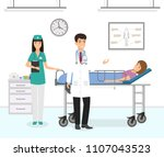 medicine situation with patient ...   Shutterstock .eps vector #1107043523