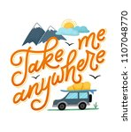 take me anywhere  cool poster... | Shutterstock . vector #1107048770