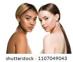 different races woman beauty... | Shutterstock . vector #1107049043