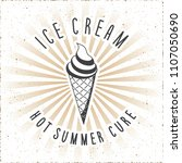 ice cream logo and hot summer... | Shutterstock .eps vector #1107050690