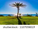 sunset on the mediterranean sea....   Shutterstock . vector #1107058019