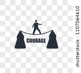 courage vector icon isolated on ... | Shutterstock .eps vector #1107064610
