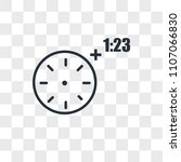 overtime vector icon isolated... | Shutterstock .eps vector #1107066830