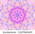 seamless kaleidoscope pink... | Shutterstock . vector #1107069620
