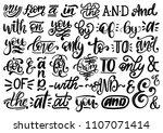 handwritten catchwords and... | Shutterstock .eps vector #1107071414