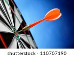 darts arrows in the target... | Shutterstock . vector #110707190