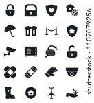 set of vector isolated black... | Shutterstock .eps vector #1107079256