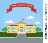 back to school poster template. ... | Shutterstock .eps vector #1107091979