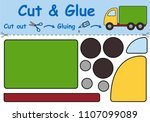 paper game for the development... | Shutterstock .eps vector #1107099089