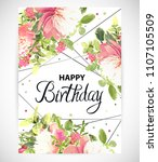 floral template greeting card ...   Shutterstock .eps vector #1107105509