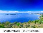 beautiful summer seascape.... | Shutterstock . vector #1107105803