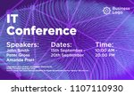 it conference abstract... | Shutterstock .eps vector #1107110930
