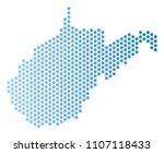 hex tile west virginia state... | Shutterstock .eps vector #1107118433