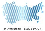 hexagon ussr map. vector... | Shutterstock .eps vector #1107119774
