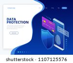 isometric personal data... | Shutterstock .eps vector #1107125576