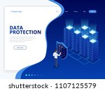 isometric personal data... | Shutterstock .eps vector #1107125579