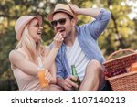 happy cheerful couple having a... | Shutterstock . vector #1107140213